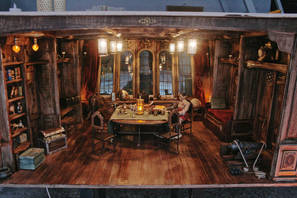 Pirate Ship Captains Room 16 Diorama By Slash79 On