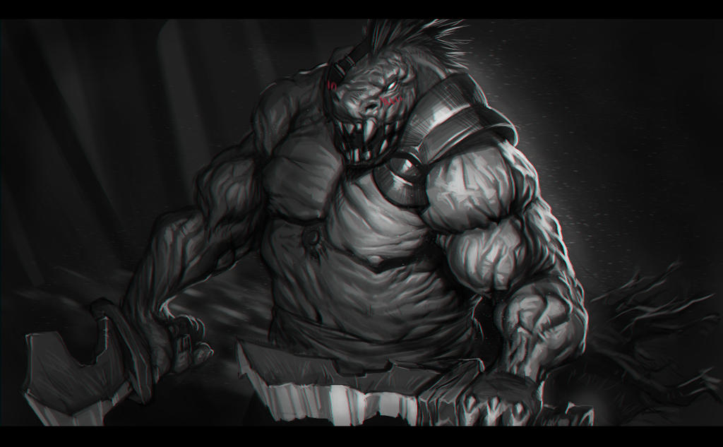 Monster + youtube drawing process by mikiron