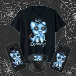 Stay Spooky Ghost Kitty Tee!