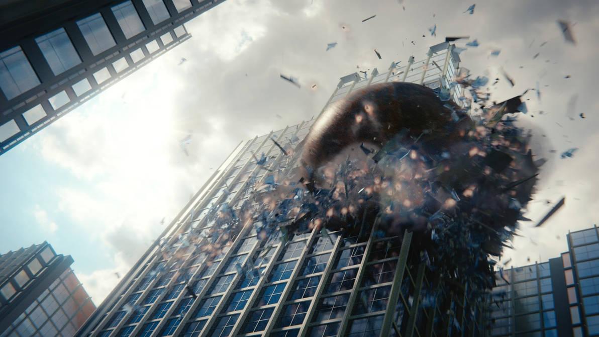 Massive Building Destruction by CG-Geek
