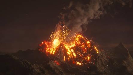 Erupting Volcano by CG-Geek