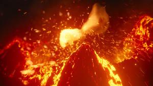 Large Volcano Eruption! by CG-Geek