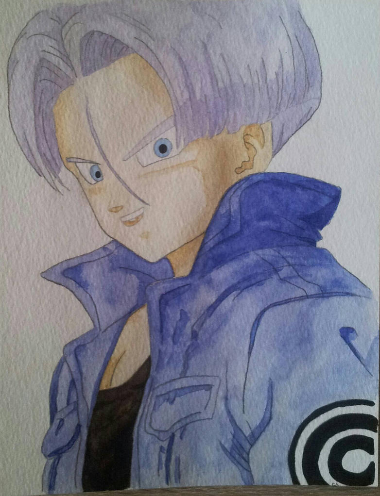 Future Trunks watercolor by CiceroVanStain