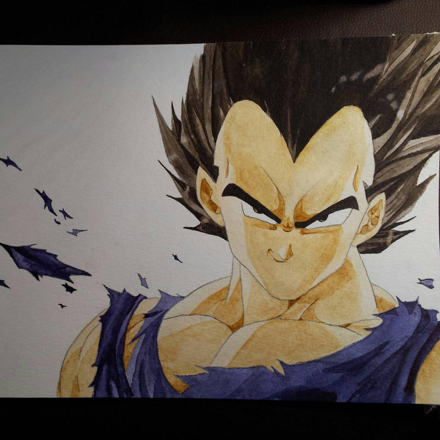 Vegeta watercolor painting by CiceroVanStain