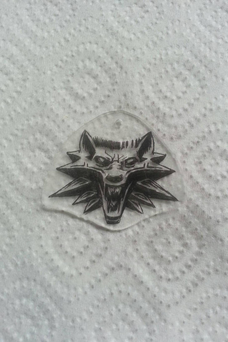the witcher wolf head pendant by CiceroVanStain