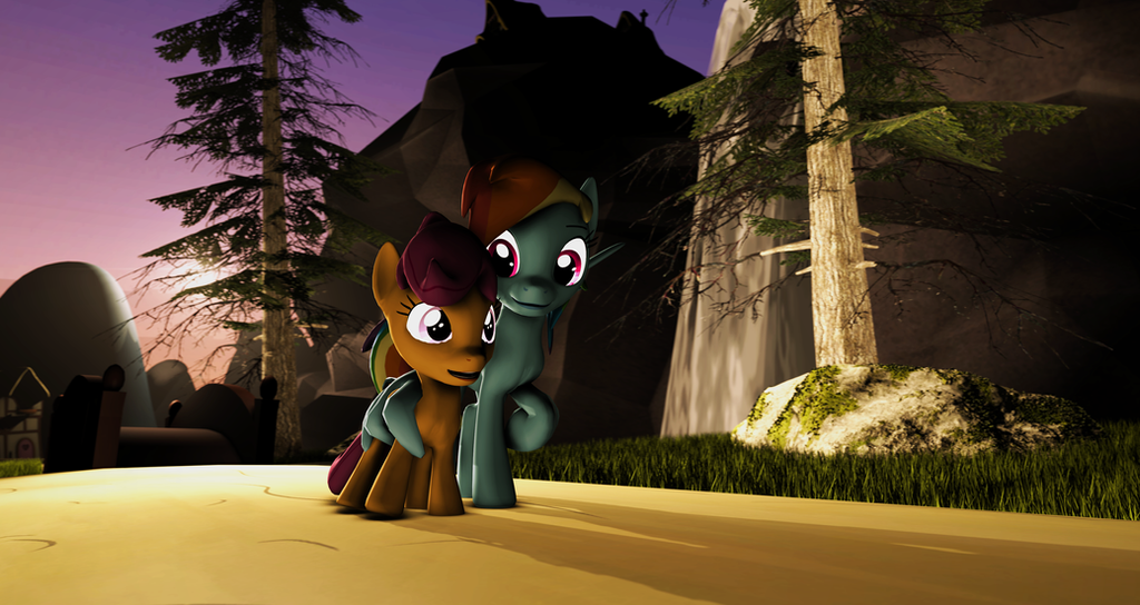 {SFM} MLP: Rainbow Dash And Scootaloo By Jaygaming1 On