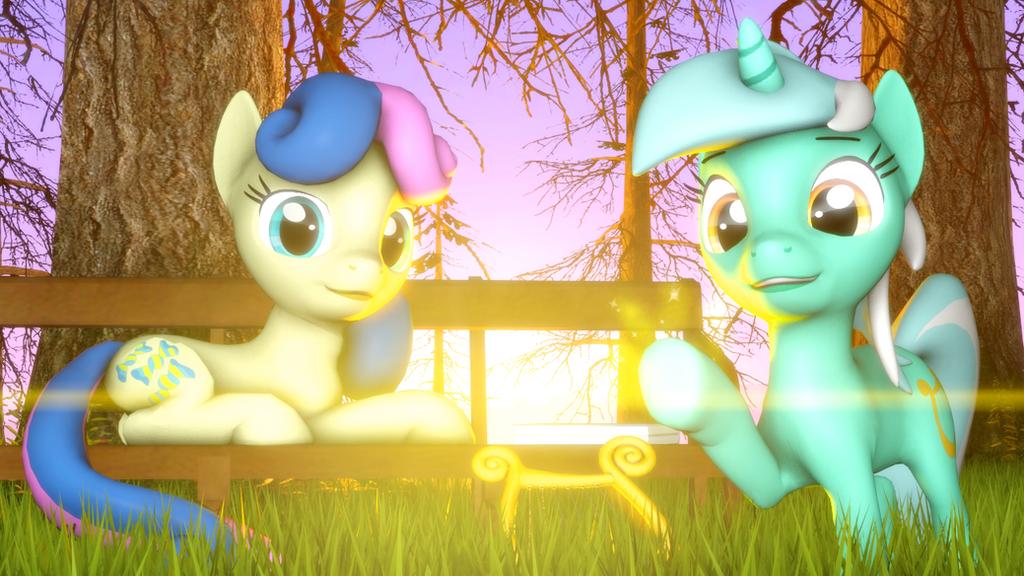 {SFM} MLP: Lyra and Bonbon by jaygaming1