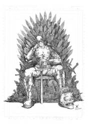 pencil Deadpool and game of thrones fanart by filantrop