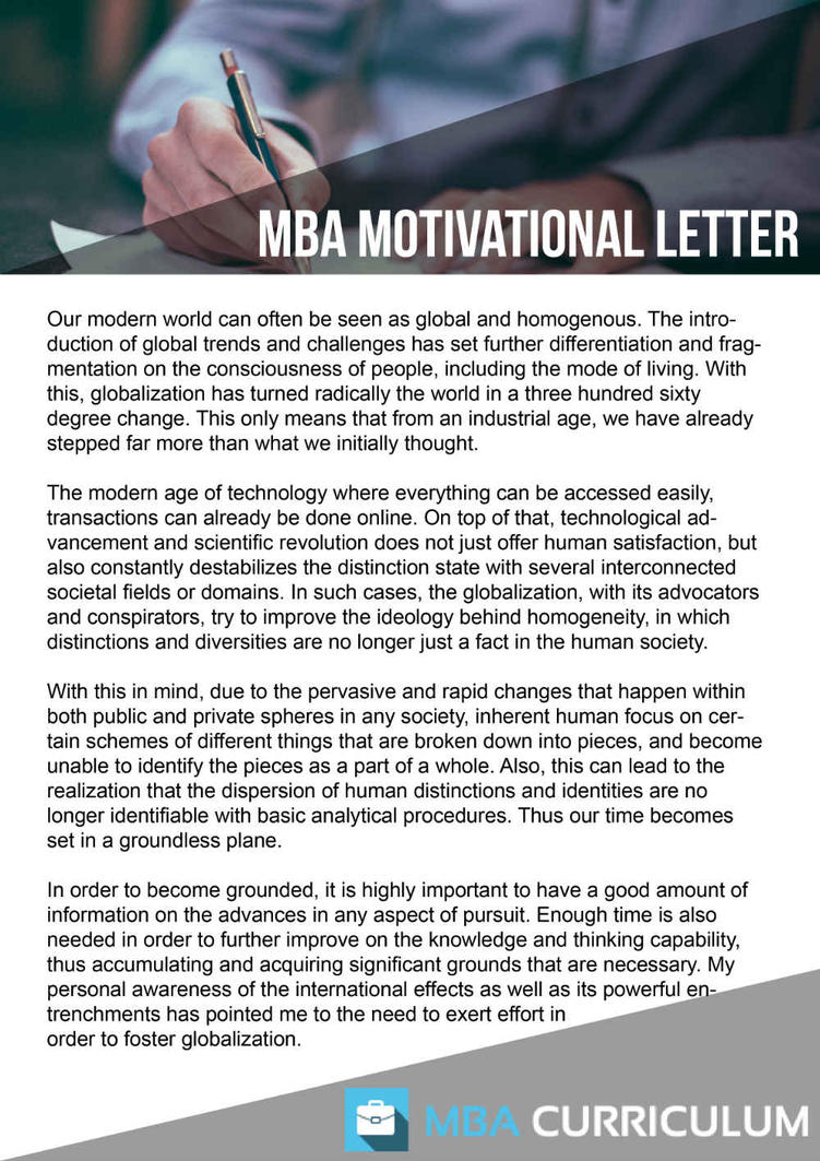 How to write a cover letter for mba admission