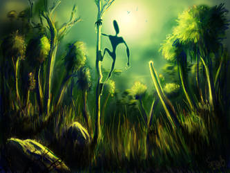 deep in the woods -speed paint by smeetrules
