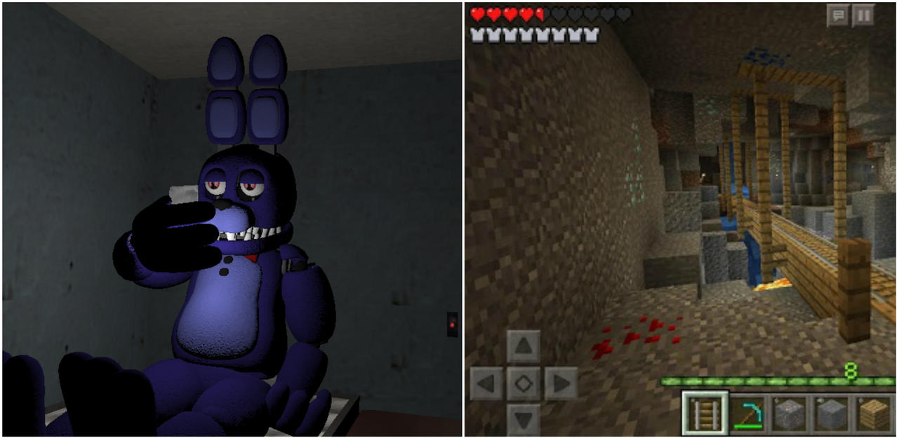 Unwithered Bonnie Playing With His Tablet Late By Thelonerranger On - Skins para minecraft pe bonnie