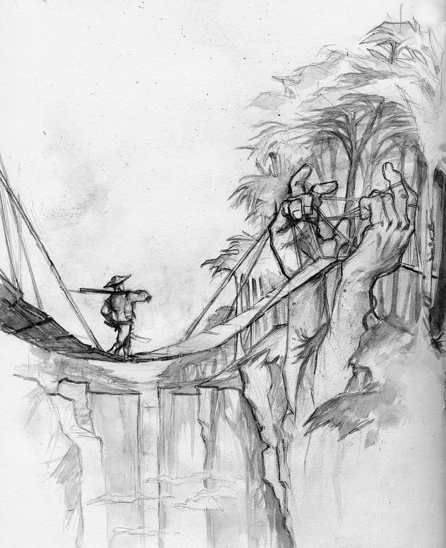 Hand Bridge by whiteflyinglizard