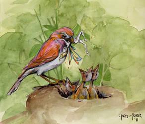Bird Food by whiteflyinglizard