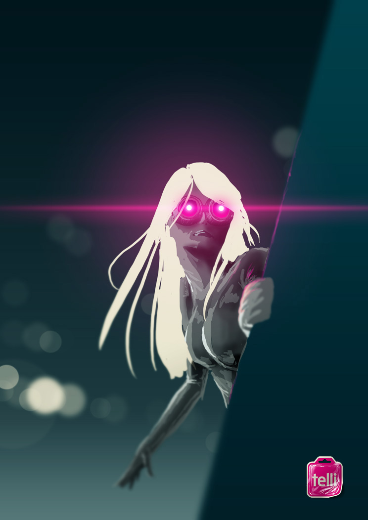 Girl with Magenta Goggles by acmelabs