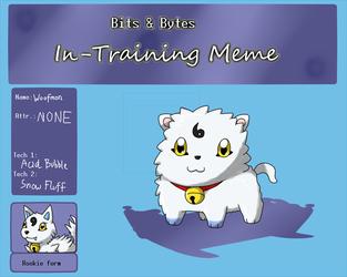 BnB In-training meme: Woofmon