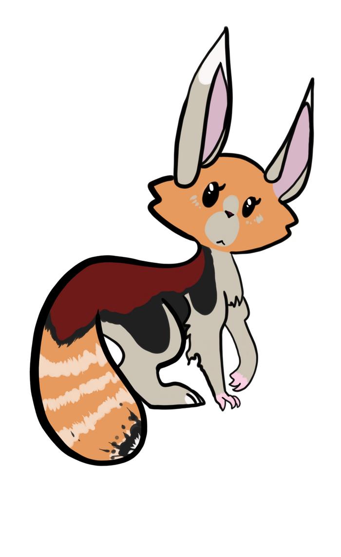 hare/red panda by manglekittens