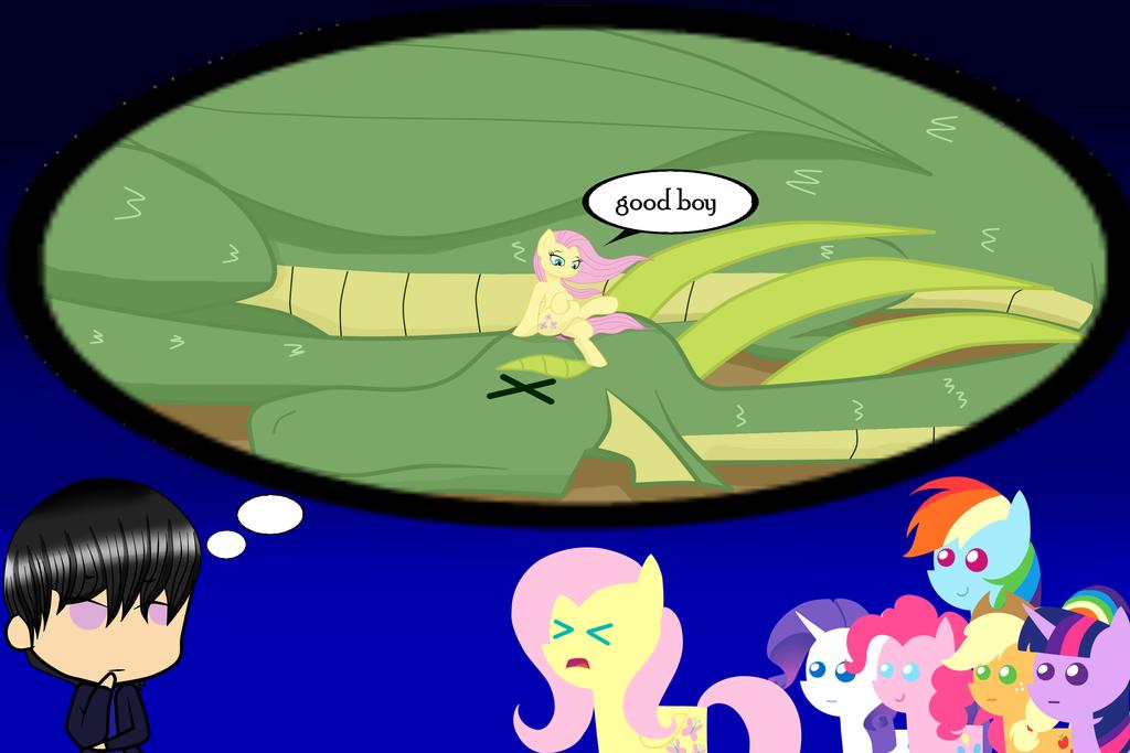 Fluttershy dragon tamer?? by lightning-runner18