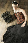 Flowered brown corset