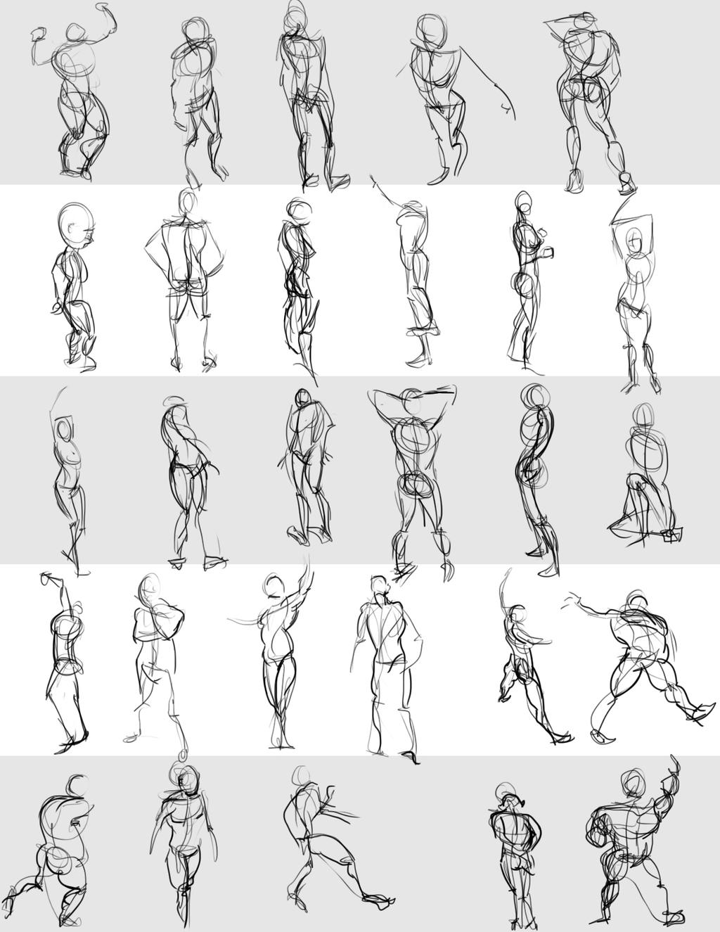 Gesture Drawings June 8 2014 (A) by bgates87 on deviantART
