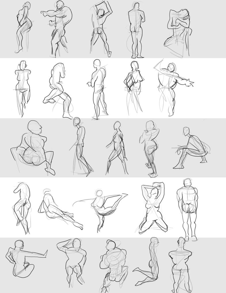Gesture Drawings June 14 2014 (A) by bgates87 on DeviantArt