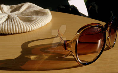 Sunglasses and White Beret