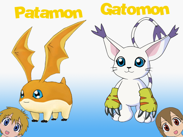 Gatomon And Patamon digimon favourites by ...