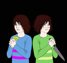 frisk x chara by Arrette