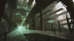 Alien town center