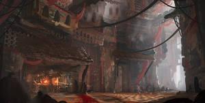 Castle blacksmith speedpaint by Tryingtofly