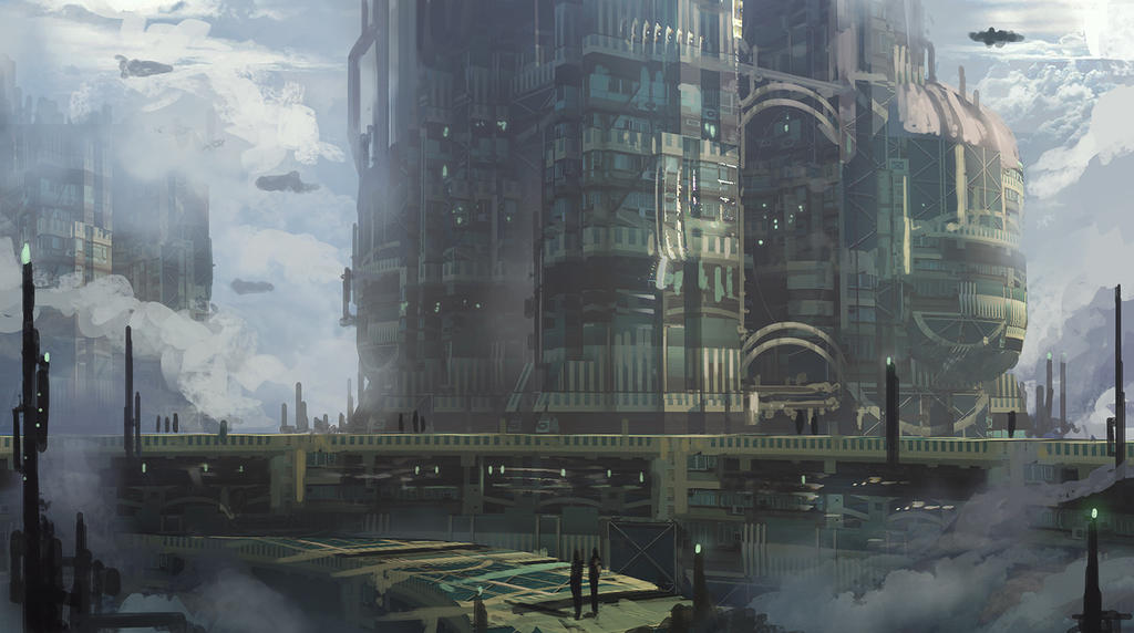 speedpaint industrial city by - photo #17