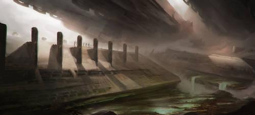 The valley of broken columns