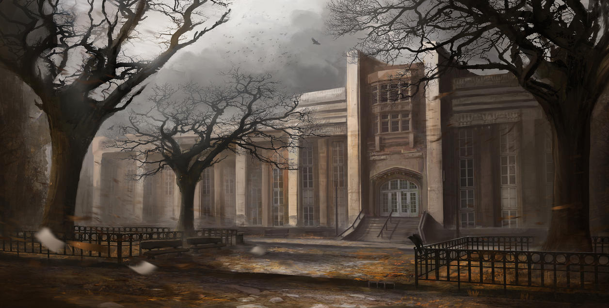 Eerie Campus by Tryingtofly