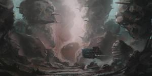 Alien planet sketch!