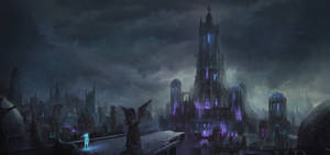 Zera and the city of endless night conceptpainting