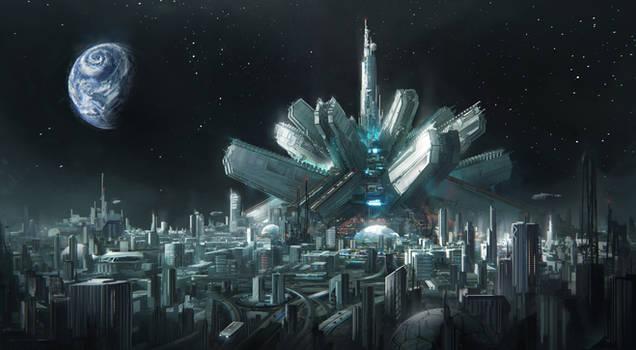 Transportation hub - Moon by Tryingtofly