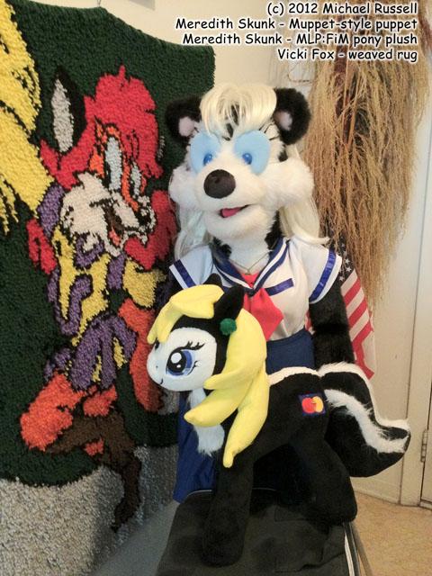 Meredith puppet, Meredith pony, Vicki rug by VickiFox