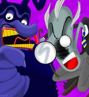 Schoolmaster and Blue Meanie by Bragosonetruelove