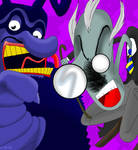 Schoolmaster and Blue Meanie