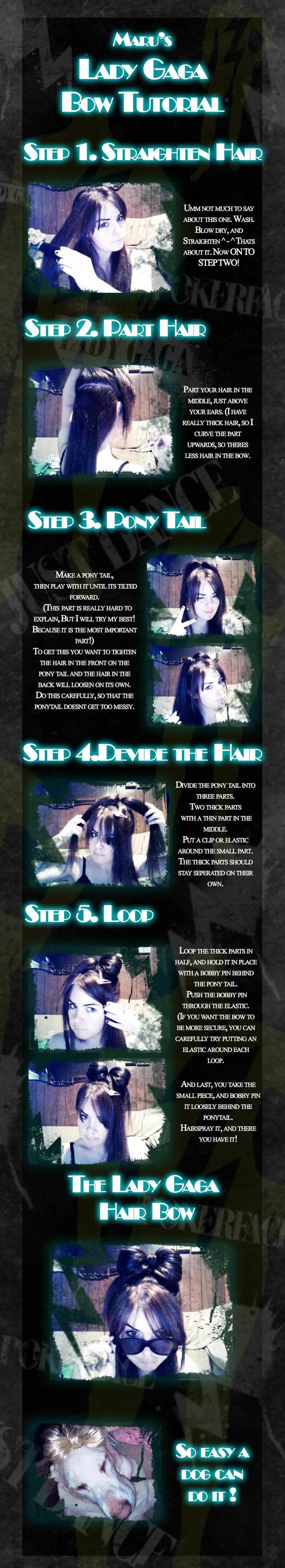 Lady Gaga Hair Bow Tutorial by PsychoMaru