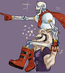 Papyrus and Asriel