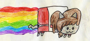 Nyan Cat as Lynn Loud