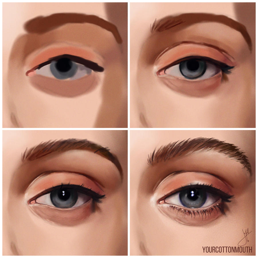 how I paint eyes by YourCottonmouth