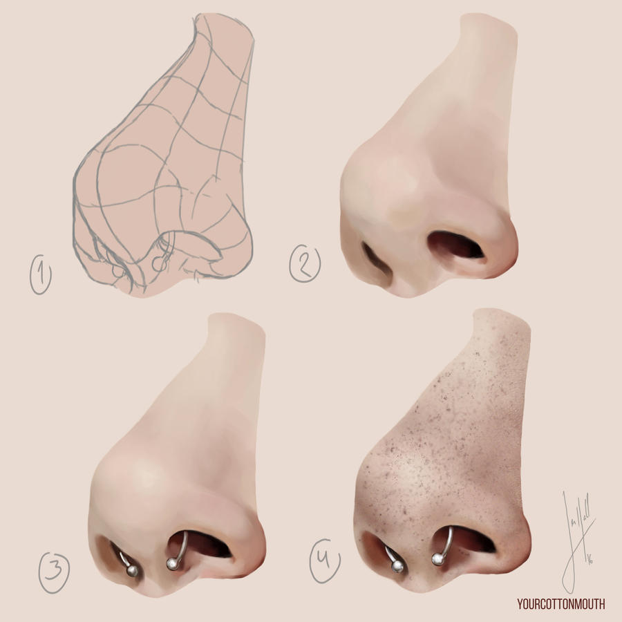 how I paint noses by YourCottonmouth