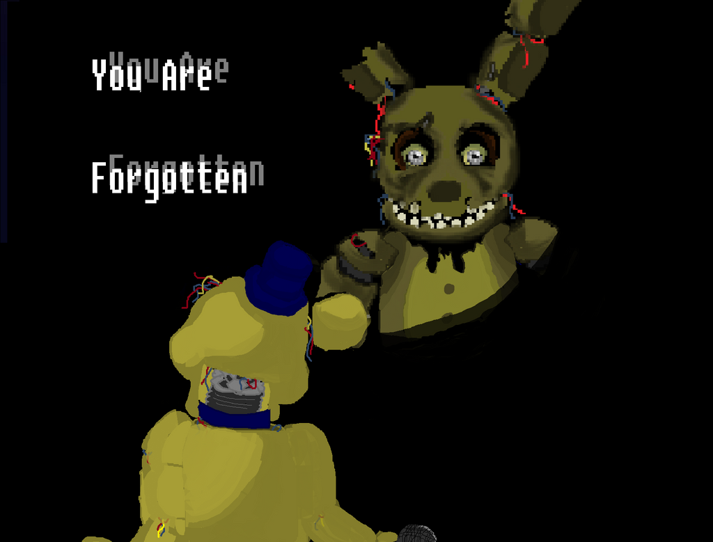 Springtrap and golden freddy by cosmicowl451720 on deviantart