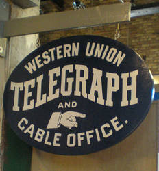 Western Union Station sign by steward