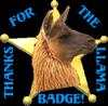 Thanks for the llama badge by steward