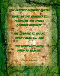21st Century Serenity Prayer