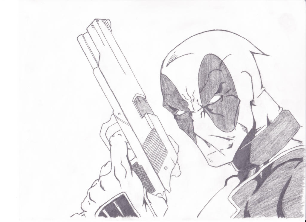 deadpool drawing 001 by onivoc