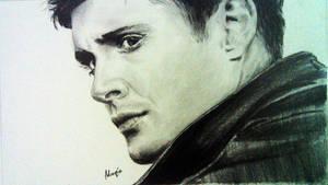 Dean Winchester a.k.a Jensen Ackles (sketch) by joyana-moe