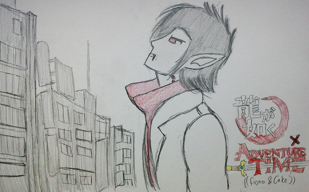 Marshall Lee as Kazuma Kiryu by Fil101